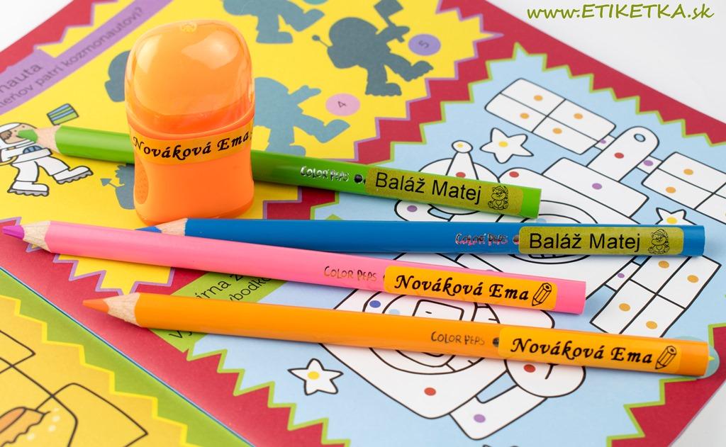 Vodeodolné menovky na ceruzky